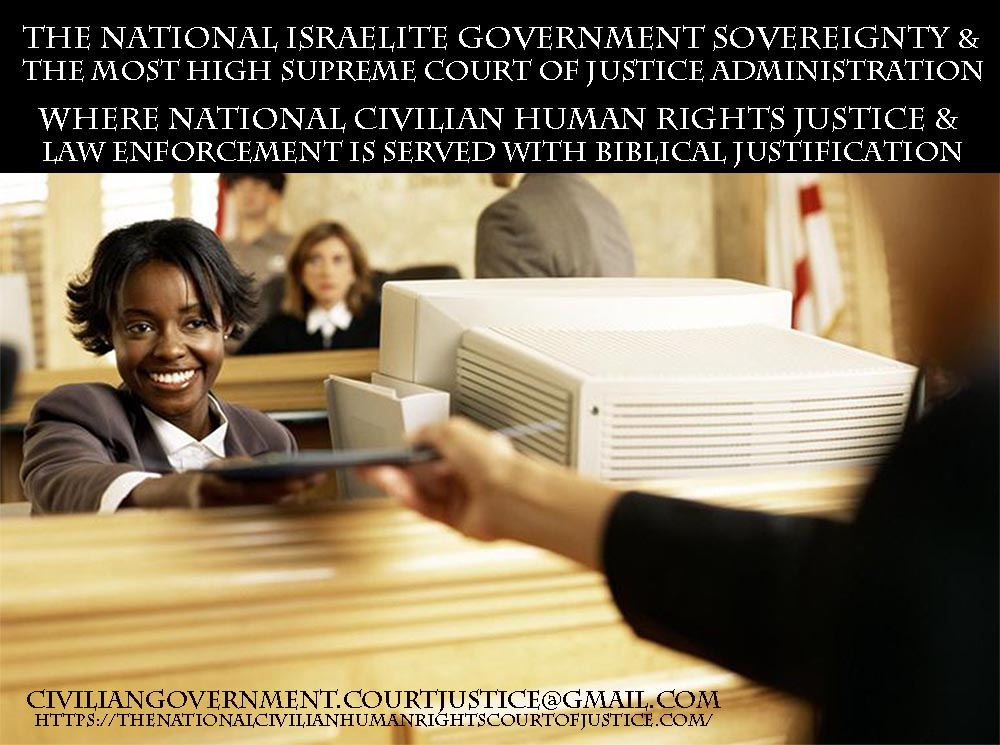 NATIONAL ISRAELITE GOVERNMENT SOVEREIGNTY